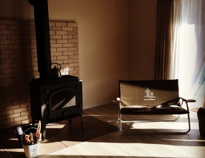 薪ストーブのある平屋 新築住宅見学会のお知らせ と 火入れ伺いました!