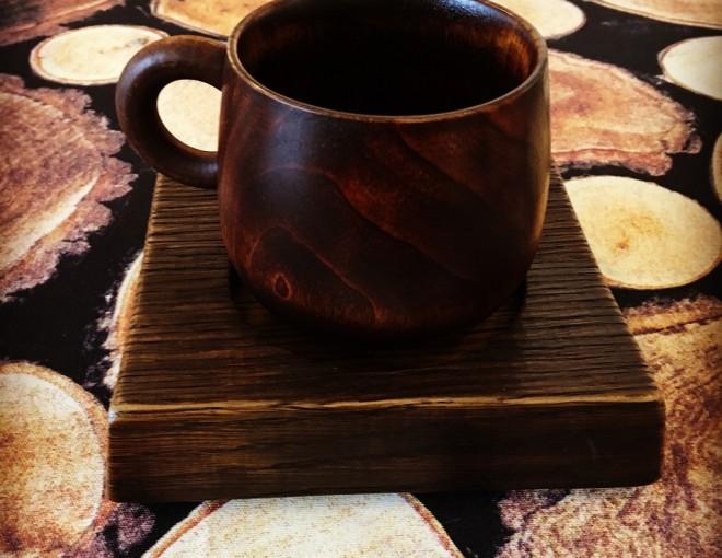 漆塗り マグカップ 木製 オークヴィレッジ