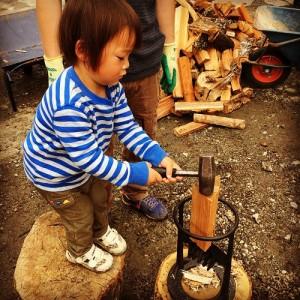 薪割り会ミニ (5)