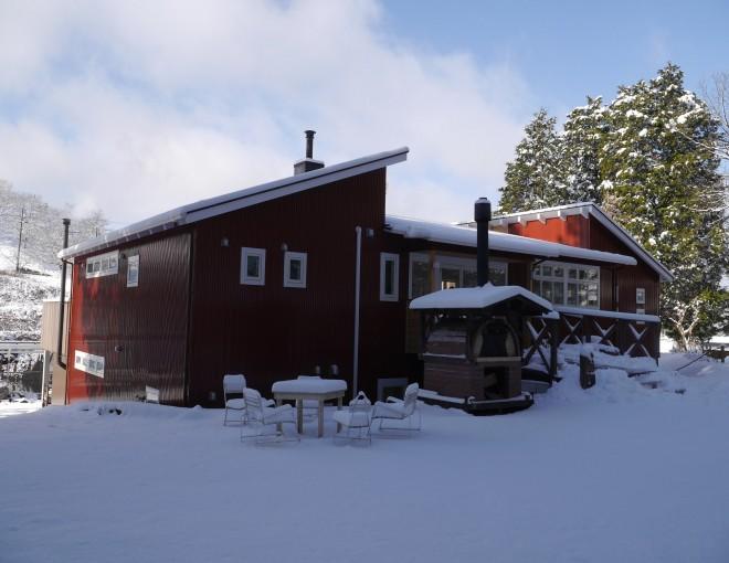 雪と山の家