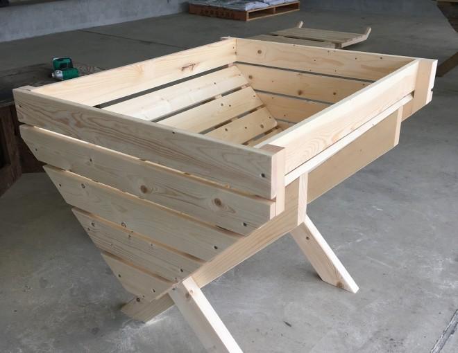 腰丈のガーデンプランター作りワークショップ