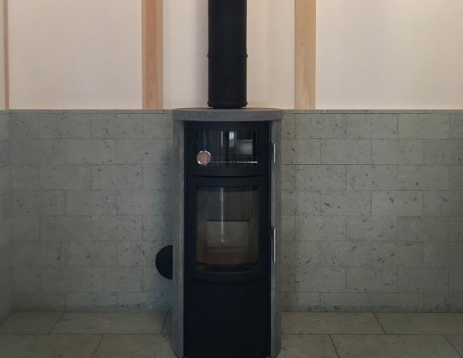ノルンソープストーン+オーブン設置