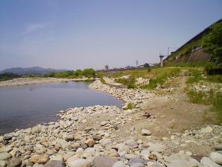 木曽川河川敷へ行ってきました。
