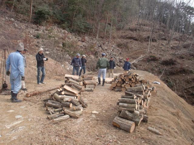 山仕事を手伝って薪をもらおうの会を開催しました