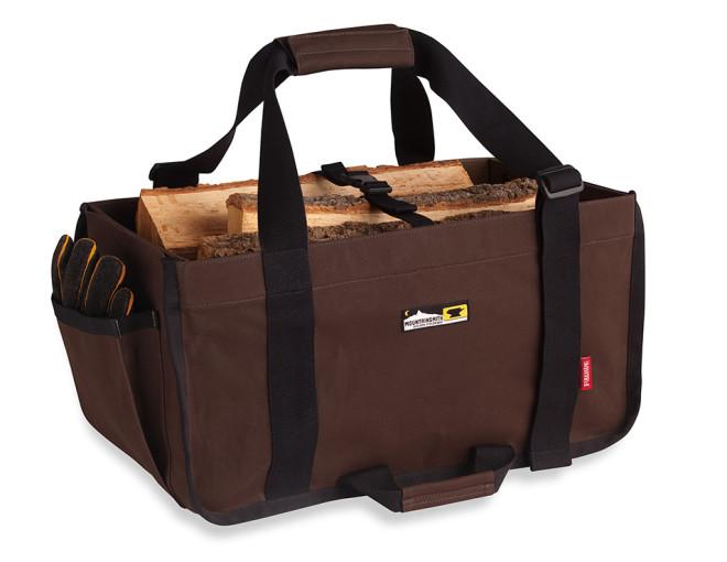 薪を運ぶのに便利な「ファイヤーサイドログキャリー」 はおしゃれで機能的! アウトドアでもOK!